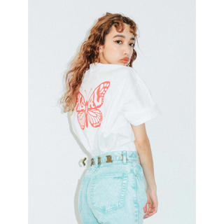 X-girl - X-girl  / エックスガール BUTTERFLY S/S MENS TEE