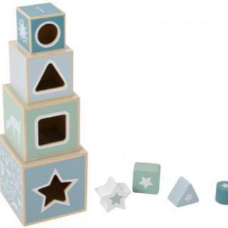 ファミリア(familiar)の☆Little Dutch☆木製 スタッキングタワー 型はめブロックセット(積み木/ブロック)