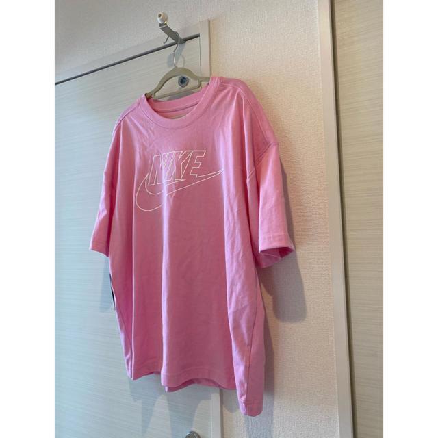 NIKE(ナイキ)のナイキ❤️パステルピンク ロゴ トップス   レディースのトップス(Tシャツ(半袖/袖なし))の商品写真