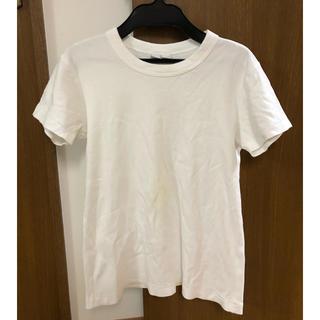 ユニクロ(UNIQLO)のユニクロユー☆シンプル 白 クルーネックTシャツ Mサイズ(Tシャツ(半袖/袖なし))