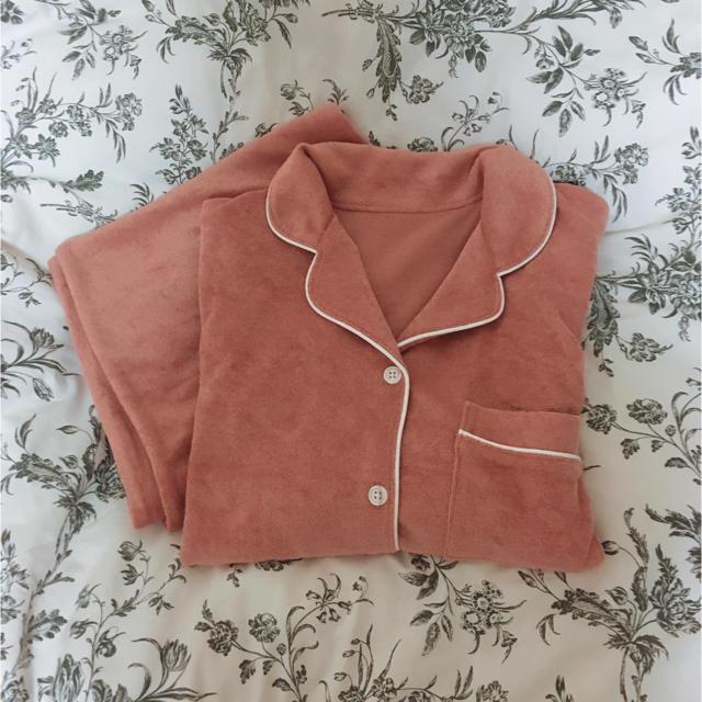 GU(ジーユー)のパイルピンク長袖パジャマ セット レディースのルームウェア/パジャマ(パジャマ)の商品写真
