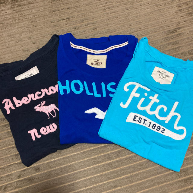 Abercrombie&Fitch(アバクロンビーアンドフィッチ)のアバクロ、ホリスター Tシャツセット レディースのトップス(Tシャツ(半袖/袖なし))の商品写真