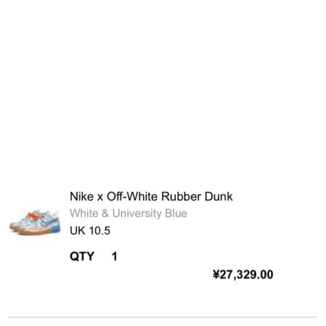 NIKE(ナイキ)のNike x Off-White Rubber Dunk メンズの靴/シューズ(スニーカー)の商品写真