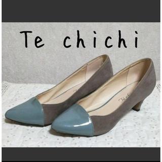 テチチ(Techichi)のTe chichi(テチチ)異素材 バイカラーパンプス(ハイヒール/パンプス)
