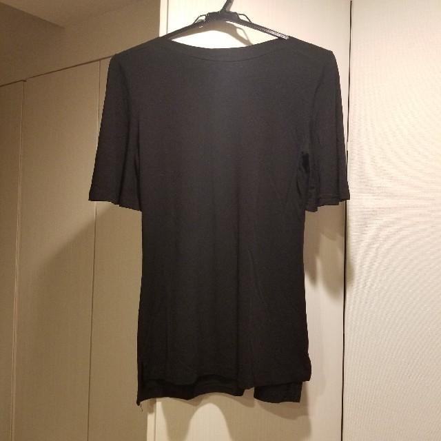 dholic(ディーホリック)の【新品未使用】dholic 袖フレアブラックTシャツ レディースのトップス(Tシャツ(半袖/袖なし))の商品写真