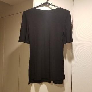 dholic - dholic 袖フレアブラックTシャツ