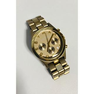マークバイマークジェイコブス(MARC BY MARC JACOBS)の【電池新品の美品】マークバイマークジェイコブスのクロノグラフ腕時計!シャンパン☆(腕時計)