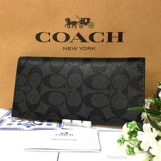 コーチ(COACH)のコーチ 長財布 二つ折り グレー シグネチャー 【新品】(財布)