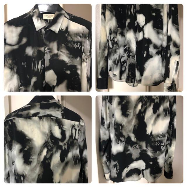 Saint Laurent(サンローラン)のsaint laurent 38 タイダイ シルク シャツ 難あり 付属品あり メンズのトップス(シャツ)の商品写真
