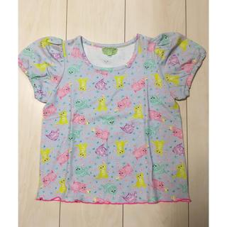フェフェ(fafa)のfafa♡ブルーキャットパフスリーブTシャツ*size 110(Tシャツ/カットソー)