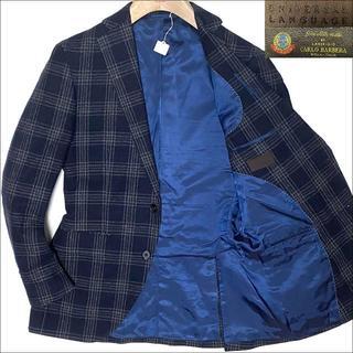 スーツカンパニー(THE SUIT COMPANY)のJ5028 美品 ユニバーサルランゲージ カルロバルベラ生地 ツイードジャケット(テーラードジャケット)