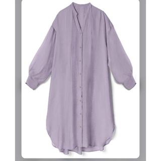グレイル(GRL)のロングシアーシャツラベンダー(Tシャツ(長袖/七分))