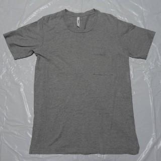 アタッチメント(ATTACHIMENT)の日本製 高級◆アタッチメント 厚手 Cネック 半袖Tシャツ 薄灰 3◆カットソー(Tシャツ/カットソー(半袖/袖なし))