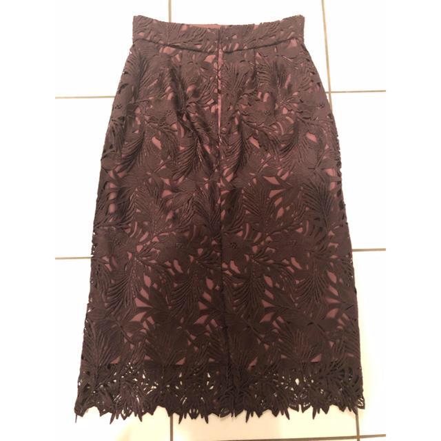 UNITED ARROWS(ユナイテッドアローズ)の専用です エメルリファインズ 秋色レーススカート♡ レディースのスカート(ひざ丈スカート)の商品写真