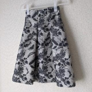 アナイ(ANAYI)のANAYI花柄ボックスプリーツスカート34サイズ(ひざ丈スカート)