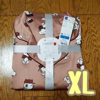 GU - 【新品】GU×SNOOPYコラボ★スヌーピーサテンパジャマ長袖★ピンクXL