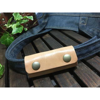 1個 ふわり艶トートバッグ持ち手カバー 本革(ドラムバッグ)