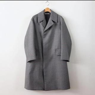 コモリ(COMOLI)のオーラリー DOUBLE FACE CHECK LONG COAT コート(チェスターコート)