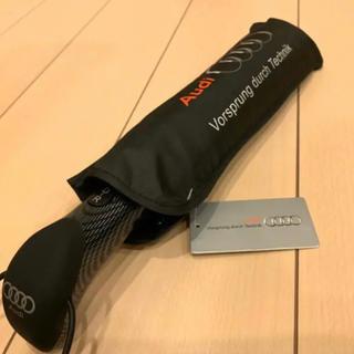 アウディ(AUDI)のアウディ Audi ロゴ ハイクオリティ 折りたたみ傘 ブラック(傘)