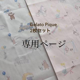 ジェラートピケ(gelato pique)の5点 2枚セット ジェラートピケ アニマル 遊園地 公園 コットン布 生地(生地/糸)