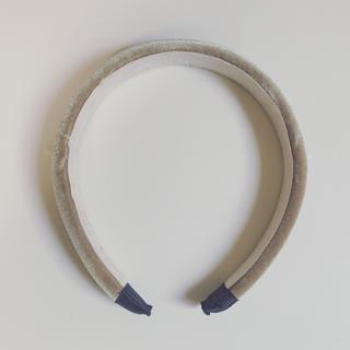 アダムエロぺ(Adam et Rope')の新品未使用◆ ベロア  カチューシャ ベージュ(カチューシャ)