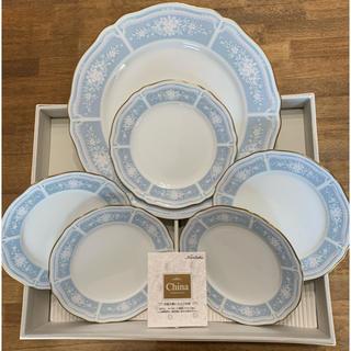 ノリタケ(Noritake)のノリタケ レースウッド ゴールド プレート 5枚 パーティーセット 大皿 小皿(食器)