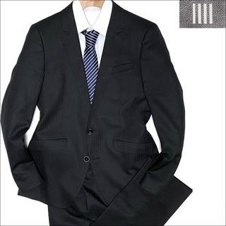 THE SUIT COMPANY - J3250 新品同様 スーツセレクト ストライプスーツ ブラック A5