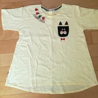ラフ(rough)のrough ねこポケット Tシャツ(Tシャツ(半袖/袖なし))