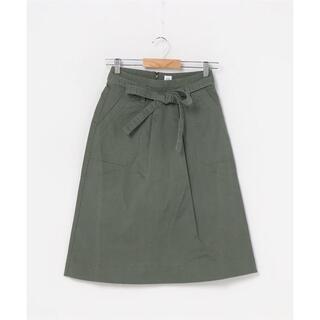 ギャップ(GAP)の【新品タグ付き】GAP リボンスカート カーキ サイズ4  (S~Mサイズ)(ひざ丈スカート)