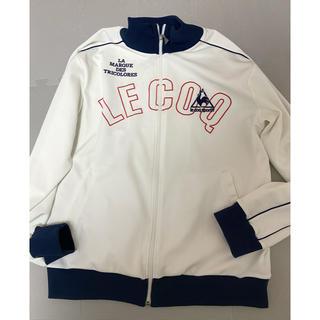 ルコックスポルティフ(le coq sportif)の 【最終値下】le coq sportif   ジャージ風ジャケット ホワイト(ジャージ)