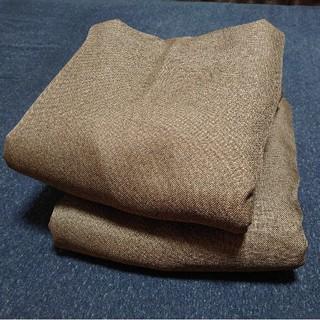 ムジルシリョウヒン(MUJI (無印良品))の無印良品 遮光カーテン ブラウン 2枚組(カーテン)
