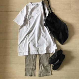 マカフィー(MACPHEE)のmacphee 裾ジップスリットイージーパンツ(カジュアルパンツ)