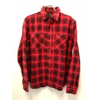 クーティー(COOTIE)のCOOTIE クーティー オンブレ チェック ネルシャツ M 日本製 レッド(シャツ)
