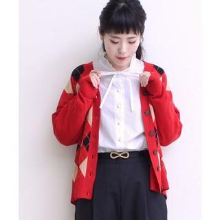 ドットアンドストライプスチャイルドウーマン(Dot&Stripes CHILDWOMAN)のDot&Stripes  衿フリル リボン ブラウス 白(シャツ/ブラウス(長袖/七分))