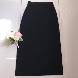 ムジルシリョウヒン(MUJI (無印良品))の無印⭐️ニット・タイト・ロングスカート⭐️美品XS-S(ロングスカート)