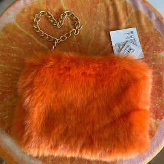 ファークラッチバッグ オレンジ 新品未使用(クラッチバッグ)
