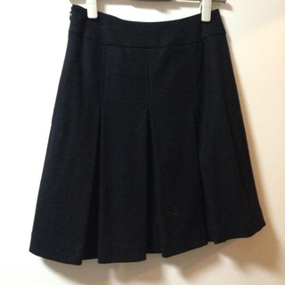 エフデ(ef-de)の☆セットアップに変更☆黒スカート*エフデ(ひざ丈スカート)