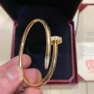 カルティエ(Cartier)のカルティエ ジュストアンクル 純正天然ダイヤ 未使用 (ブレスレット)