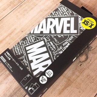マーベル(MARVEL)の箱破れ特価 MARVEL iPhoneX/Xs 兼用 フリップカバー BK(iPhoneケース)