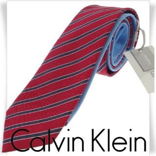 Calvin Klein PLATINUM シルク絹×綿コットン ネクタイ