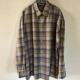 AURALEE 18aw チェックシャツ(シャツ)