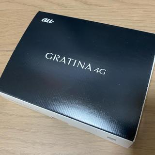 エーユー(au)の【SIMフリー】au GRATINA 4G KYF31 ブラック 新品(携帯電話本体)