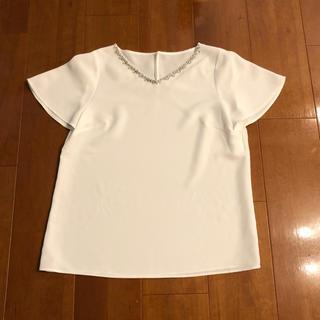 アナイ(ANAYI)の ANAYI ビジュー付きブラウス(シャツ/ブラウス(半袖/袖なし))