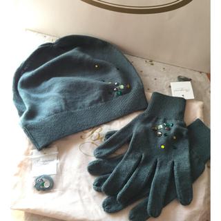 ボンポワン(Bonpoint)の専用出品です ボンポワン  ニット帽子手袋 カチューシャセット(帽子)