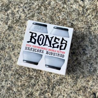 インディペンデント(INDEPENDENT)のスケボーブッシュセット BONES ボーンズ HARD ホワイト 新品(スケートボード)