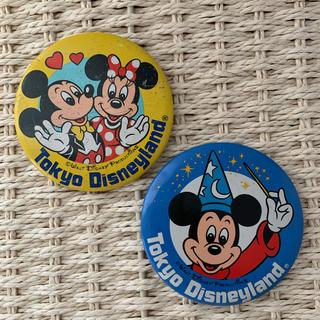 ミッキーマウス(ミッキーマウス)のディズニーレトロ缶バッチ 2個set(その他)