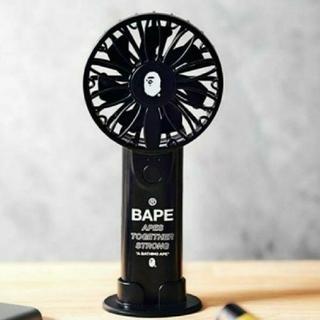 アベイシングエイプ(A BATHING APE)の2way ハンディ扇風機/ブラック(扇風機)