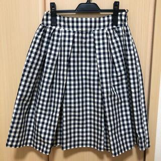 ルカ(LUCA)のチェックスカート(ひざ丈スカート)