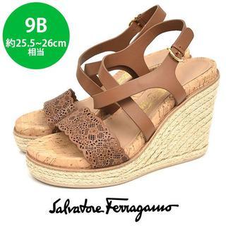 Salvatore Ferragamo - ほぼ新品❤フェラガモ エスパドリーユ サンダル 9B(約25.5-26cm)