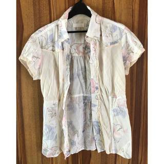 ディーゼル(DIESEL)のディーゼル  薄花柄 シャツ M 美品(シャツ/ブラウス(半袖/袖なし))